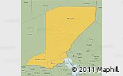 Savanna Style 3D Map of Diffa