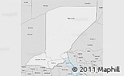 Silver Style 3D Map of Diffa
