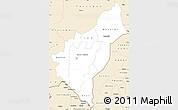 Classic Style Simple Map of Dosso