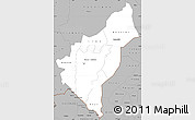 Gray Simple Map of Dosso