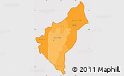 Political Shades Simple Map of Dosso, cropped outside