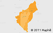 Political Shades Simple Map of Dosso, single color outside