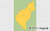 Savanna Style Simple Map of Dosso, cropped outside