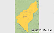 Savanna Style Simple Map of Dosso