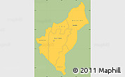 Savanna Style Simple Map of Dosso, single color outside