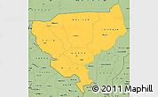 Savanna Style Simple Map of Tillabery