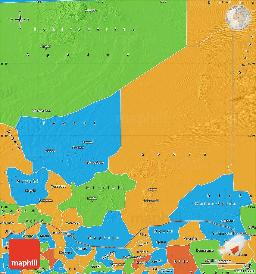 Political Map of Zinder