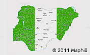 Flag 3D Map of Nigeria
