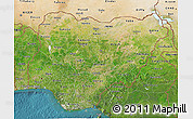 Satellite 3D Map of Nigeria