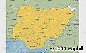 Savanna Style 3D Map of Nigeria