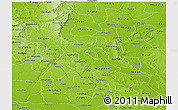 Physical Panoramic Map of Abia