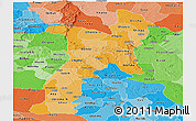 Political Shades Panoramic Map of Abia