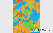 Political 3D Map of Adamwara