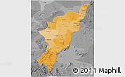 Political Shades 3D Map of Adamwara, desaturated