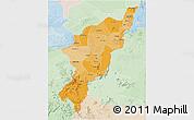 Political Shades 3D Map of Adamwara, lighten