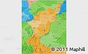 Political Shades 3D Map of Adamwara
