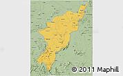 Savanna Style 3D Map of Adamwara