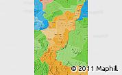 Political Shades Map of Adamwara