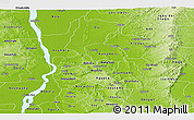 Physical Panoramic Map of Anambra