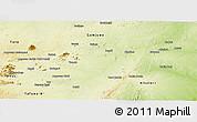 Physical Panoramic Map of Bauchi