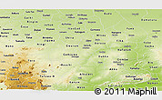 Physical Panoramic Map of Bauchi