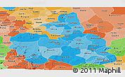 Political Shades Panoramic Map of Bauchi