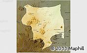 Physical 3D Map of Toro, darken