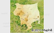 Physical 3D Map of Toro, satellite outside