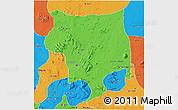 Political 3D Map of Toro