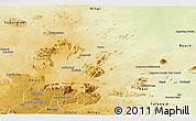 Physical Panoramic Map of Toro