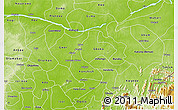Physical 3D Map of Benue