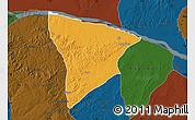 Political Map of Apa, darken