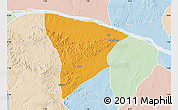 Political Map of Apa, lighten