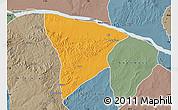 Political Map of Apa, semi-desaturated
