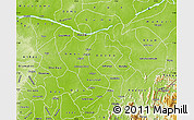 Physical Map of Benue
