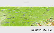 Physical Panoramic Map of Benue