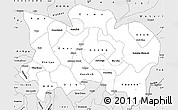 Silver Style Simple Map of Benue