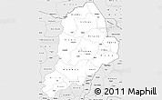 Silver Style Simple Map of Borno