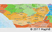 Political Shades Panoramic Map of Delta