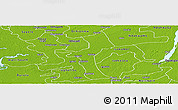 Physical Panoramic Map of UgheliNo