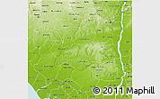 Physical 3D Map of Edo