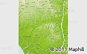 Physical Map of Edo