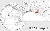 Blank Location Map of OviaNort