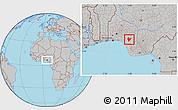 Gray Location Map of OviaNort