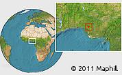 Satellite Location Map of OviaNort