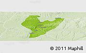 Physical Panoramic Map of OviaNort, lighten