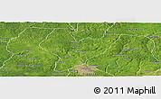 Satellite Panoramic Map of OviaNort