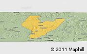 Savanna Style Panoramic Map of OviaNort