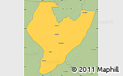 Savanna Style Simple Map of OviaNort