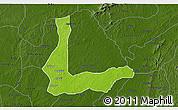 Physical 3D Map of Abakalik, darken